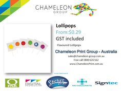 Lollipops - Chameleon Print Group - Australia  http://chameleonprint.com.au/product/lollipops/
