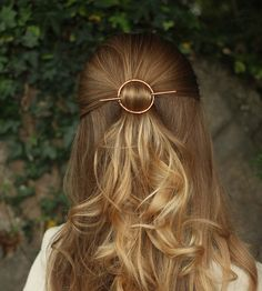 Hammered Circle Hair Barrette & Stick by Kapelika Metal Hair Accessories on Scoutmob Shoppe