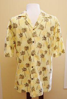 KY's Hawaiian Palm Trees Camp Shirt Mens L Summer Party Fun Comfy Made in Hawaii…