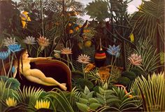 The Dream by Henri Rousseau 10 x 14  Needlepoint Canvas