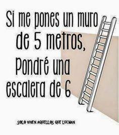 Si me pones un muro de 5 metros, pondré una escalera de 6     (Ayuda Psicológica en Línea - Google+)