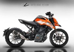 Customised Duke 250 kits by Autologue Design with cafe racer and scrambler body styles ranges between Rs. Ktm Motorcycles, Enduro Motorcycle, Bmw Scrambler, Custom Motorcycles, Ktm Cafe Racer, Cafe Racer Kits, Cafe Racers, New Ktm, Ktm Duke 200