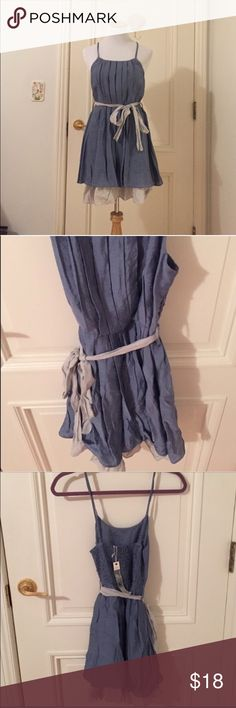 Blue Dress by Ya Los Angeles NWT condition. Spaghetti straps and flouncy bottom. All sales final. Ya Los Angeles Dresses
