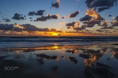 Reflections of Clouds at Sunset in Oceanside by Rich Cruse on 500px