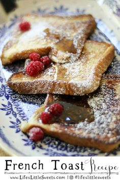This classic, French Toast recipe is a basic French Toast recipe that is perfect for a breakfast or weekend brunch. This recipe calls for regular white bread but you can also use sliced brioche or french bread too. #Frenchtoast #breakfast #sweet #brunch #recipe Delicious Donuts, Delicious Breakfast Recipes, Vegan Recipes Easy, Brunch Recipes, Vegetarian Breakfast, Yummy Recipes, Vegetarian Recipes, Dinner Recipes, Quick And Easy Breakfast