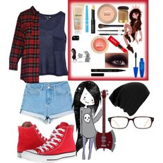 """""""Marceline the vampire queen"""" by geekybutcreative on Polyvore"""