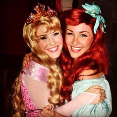 Aurora from Sleeping Beauty and Ariel from The Little Mermaid