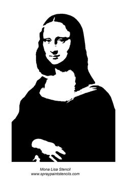Mona Lisa stencil.