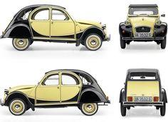 Citroen Charleston yellow and black, noir et jaune Retro Cars, Vintage Cars, My Dream Car, Dream Cars, Rolls Royce, Peugeot, 2cv Dolly, Automobile, 2cv6