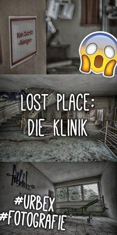 Ein verlassenes Krankenhaus - wie gruselig! Und dann nicht nur das, sondern: Wir finden ein Bett, Blutspuren und ein Röntgengerät!  Ein Lost Place der besonderen Art und ein Muss für jeden waschechten Urbexer! Scary Places, Haunted Places, Geocaching, Abandoned Buildings, Abandoned Places, Holidays Germany, Diabetes, Far Away, Lps