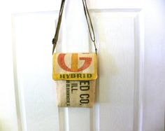 Funk's G Hybrid seed sack upcycled small crossbody by LoriesBags