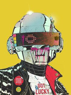 Daft Punk by Boneface