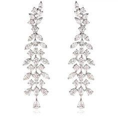 Diamond gold chandelier earrings gold chandelier earrings diamond 18k white gold chandelier earrings aloadofball Images