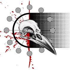 Trash Polka Raven Skull