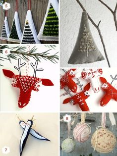 11 Christmas ornaments ideas for your special handmade holidays by Aida Ines