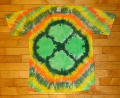 Tie Dye Shamrock Leaf Clover St Patricks Day Green Ireland Leprechan Notre Dame   eBay