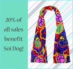 Want to buy some great gifts and help the dogs and cats of Thailand at the same time? Soi Dog Foundation has partnered with GREATER GOOD, so you can purchase items from them that do just that.  Greater Good has a great range of merchandise, such as this SuperCozy™ Electric Paws tie dye pocket wrap, which is the ideal gift for the animal lover in your life.  http://shop2give.us/1wGbt6x