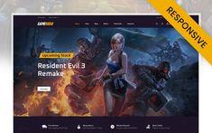 Resident Evil 3 Remake, Mega Menu, Black And White Theme, Theme Color, User Guide, Minimal Design, Online Games, Logo Branding, Layout Design