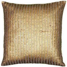 "Gold Sequins 18"" Square Decorative Pillow found on Polyvore"