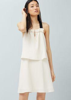 Rafaella Women's Plus Size Solid Asymmetric Hem Tank - White - Boho Style Dresses, Boho Dress, Vestidos Estilo Boho, Urban Outfitters, Fashion Background, Moda Boho, Bohemian Mode, Forever 21, Plus Dresses