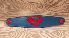 Superman Bracelet Wristlet Super Man Boy Girl Marvel Superhero embroidered birthday gift Costume accessories by EmbroiderybyShellS on Etsy