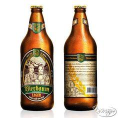 Cerveja Bierbaum Lager, estilo Standard American Lager, produzida por Cervejaria Bierbaum, Brasil. 4.8% ABV de álcool.