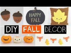DIY FALL ROOM DECOR - Five Easy & Inexpensive Ideas!