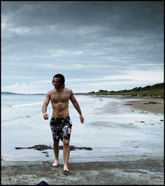 That sure is a beautiful beach. ;-) (Aidan Turner)