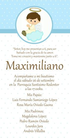 Leonardo A jimenez Baptism Invitation For Boys, Baptism Favors, Baptism Invitations, Party Invitations, Baptism Ideas, Baby Baptism, Baptism Party, Christening, Gift From Heaven