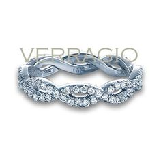 Verragio Ladies Eterna Pave Twist Wedding Band (13.170 BRL) ❤ liked on Polyvore featuring jewelry, rings, pave diamond wedding rings, twisted band wedding ring, twist jewelry, pave jewelry and wedding band ring