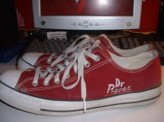 Dr Pepper Chuck Taylors by Vulpes-Erratum on DeviantArt Super Cool Stuff, Dr Pepper, Shopping Day, Girly Outfits, Cute Fashion, Chuck Taylors, Converse, Pepsi, Coca Cola