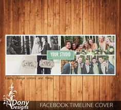Wedding Facebook timeline cover template photo collage - Photoshop Template Instant Download - BUY 1 GET 1 FREE: fc358 by DonyDesigns on Etsy