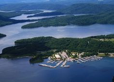 Raystown Lake, PA ~  in the foreground is the Seven Points Marina, campgrounds, picnicing and beachs that are part of the 29,000 acres of land and 8,000 acre lake maintained by the Army Corps of Engineers.