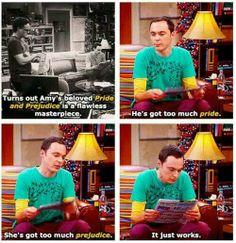 Big Bang Theory on Jane Austen. A JANE AUSTEN REFERENCE!!!