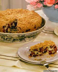 Thick with blueberries, this streusel-encrusted cake is delicious for breakfast or dessert.