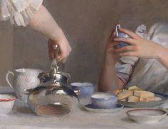 William McGregor Paxton 'Tea Leaves' (detail) 1909 by Plum leaves, via Flickr