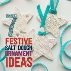 7 Festive Salt Dough Ornament Ideas #saltdough #saltdoughornaments #diyornaments