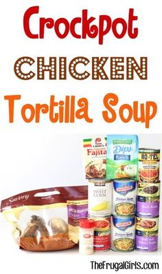Crockpot Chicken Tortilla Soup Recipe From This Easy Slow Cooker Soup Is So Hearty And Delicious Crock Pot Soup, Crock Pot Slow Cooker, Crock Pot Cooking, Slow Cooker Recipes, Soup Recipes, Cooking Recipes, Crockpot Recipes, Recipies, Chicken Recipes