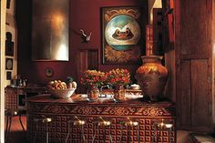 mexican old style kitchen