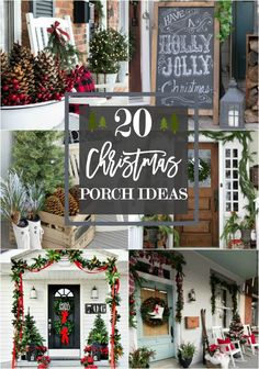 Greet them at the door with amazing holiday curb appeal this Christmas! Here are 20 beautiful Christmas porch ideas to inspire you. via @homestoriesatoz