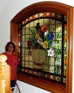 Birds & Florial Designs ~Still life Custom Beveled and Art glass