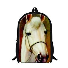 c07bea4395 2017 Horse School Bags for Boys Teenagers Bagpack animal printed backpacks  mochilas cool horse back pack