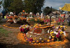 Cemeterio en Día de Muertos
