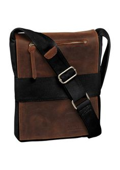 Leather messenger bag for men with adjustable cross body strap ...