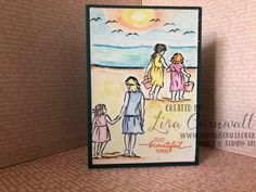 Beautiful moments at the Beach - Crunchie Crafts Friend Cards, Cards For Friends, Fun Crafts, Paper Crafts, Stampin Pretty, Nautical Cards, Beach Cards, Mothers Day Cards, Card Maker