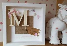 Personalised New Baby, Birth, Christening, Boy & Girl Frames Gift/Keepsake