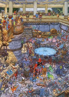 Moebius - City of Fire (1984) - Studio at Day Time