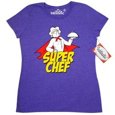 Inktastic Super Chef Women's T-Shirt Cook Superhero Clothing Apparel Tees Adult, Size: Medium, Grey