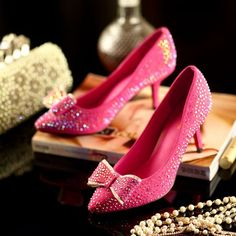 2015New Brand Pink Women Bridal Shoes Red Bottoms High Heels Sexy Woman Pumps…
