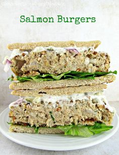 Salmon Burgers #food #yummy +++For guide + advice on healthy #lifestyle, visit http://www.thatdiary.com/